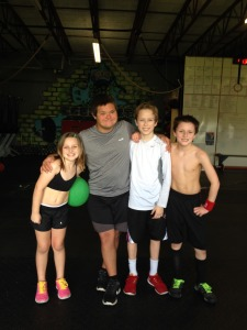 Caroline, Caleb, Grayson and Todd Post WOD!